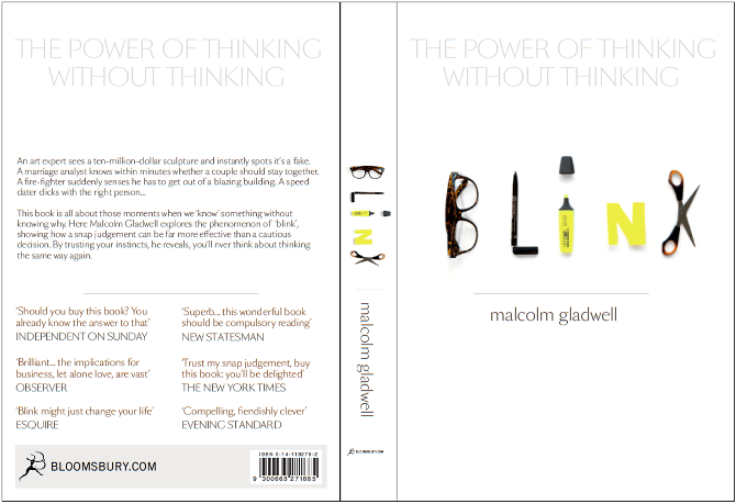 book report on blink by malcolm Blink: the power of thinking without thinking (2005) is malcolm gladwell's second book it presents in popular science format research from psychology and behavioral economics on the.